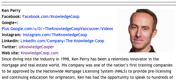 50 Most Connected Mortgage Professionals - Ken Perry